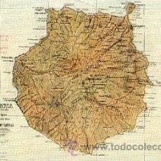Postales: GRAN CANARIA – MAPA – POSTAL ANTIGUA - RODRÍGUES BROS. PUERTO DE LA LUZ . Lote 25101283