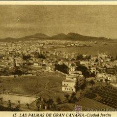 Postales: POSTAL LAS PALMAS DE GRAN CANARIA CIUDAD JARDIN. Lote 12571858