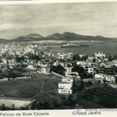 Postales: POSTAL LAS PALMAS DE GRAN CANARIA CIUDAD JARDIN. Lote 12572092