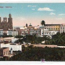 Postales: TARJETA POSTAL DE LAS PALMAS GRAN CANARIAS. CATEDRAL. RODRIGUEZ BROS. Lote 22185447