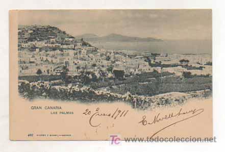 GRAN CANARIA. LAS PALMAS. (HAUSER Y MENET, 466). REVERSO SIN DIVIDIR. (Postales - España - Canarias Antigua (hasta 1939))