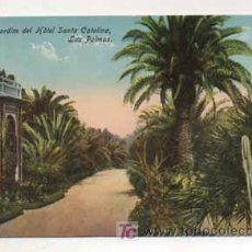 Postales: LAS PALMAS. JARDIN DEL HOTEL SANTA CATALINA. (ED. RODRIGUES BROS.). Lote 13597391