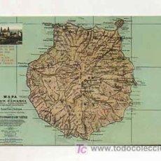 Postales: MAPA DE GRAN CANARIA. (ED. RODRIGUES BROS.). Lote 13597836