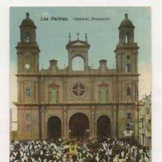 Postales: LAS PALMAS. CATEDRAL, PROCESIÓN. (ED. RODRIGUES BROS.). Lote 13598375
