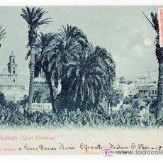 Postales: TARJETA POSTAL DE LAS PALMAS. VISTA PARCIAL. BAZAR ALEMAN. VER FOTO REVERSO. Lote 24530420