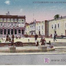Postales: AYUNTAMIENTO DE LAS PALMAS.VER MAS ARTICULOS DE COLECCION EN RASTRILLOPORTOBELLO.. Lote 24895030