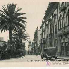 Postales: CALLE DEL CASTILLO Y ESPIRITU SANTO. LAS PALMAS Nº 67. EDICION VDA.RAFAEL ROMERO -NO CIRCULADA.. Lote 27543970