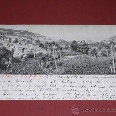 Postales: LAS PALMAS BARRANCO SECO-Nº13849-POSTAL CIRCULADA 1905-14X9 CM.. Lote 15619557