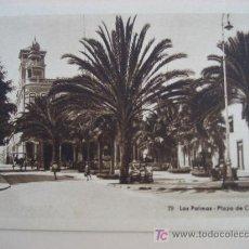 Postales: LAS PALMAS. Nª 79 PLAZA DE CAIRASCO. BAZAR ALEMAN. POSTAL SIN CIRCULAR. Lote 21607292