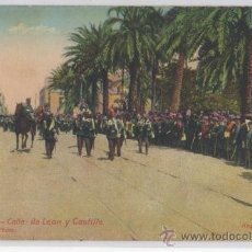 Postales: TARJETA POSTAL DE LAS PALMAS CALLE DE LEON Y CASTILLO ISLAS CANARIAS DESFILE MILITAR GUARDIA CIVIL. Lote 25455278
