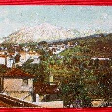 Postales: EL TEIDE DESDE ICOD - TENERIFE - ISLAS CANARIAS. Lote 16405345