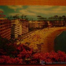 Postales: POSTAL LAS PALMAS DE GRAN CANARIA VISTA GENERAL DE LAS CANTERAS E INSTALACIONES HOTELERAS CIRCULADA. Lote 16767882