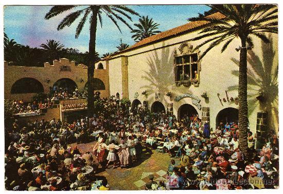 BONITA POSTAL - LAS PALMAS DE GRAN CANARIA - BAILE TIPICO EN EL PUEBLO CANARIO (Postales - España - Canarias Moderna (desde 1940))