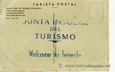 PASEO SAN MIGUEL.SERIE II-NUM 7353.WELCOME TO TENERIFE- (Postales - España - Canarias Moderna (desde 1940))