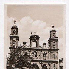 Postales: TARJETA POSTAL DE LAS PALMAS, CATEDRAL. EDICION GRAN CANARIA, PROPIEDAD INTELECTUAL. Nº 7.. Lote 22053473