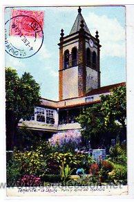TENERIFE. CANARIAS. LAGUNA. PATIO Y TORRE DEL INSTITUTO. CIRCULADA. (Postales - España - Canarias Antigua (hasta 1939))