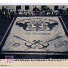 Postales: TENERIFE. CANARIAS. ALFOMBRA DE FLORES NATURALES, FRENTE AL AYUNTAMIENTO. 11 FEBRERO 1905.. Lote 27419548
