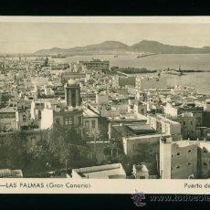 Postales: LAS PALMAS - GRAN CANARIA - PUERTO DE LA LUZ - EDICIÓN BARZAR ALEMÁN - AÑOS 50. Lote 18345837
