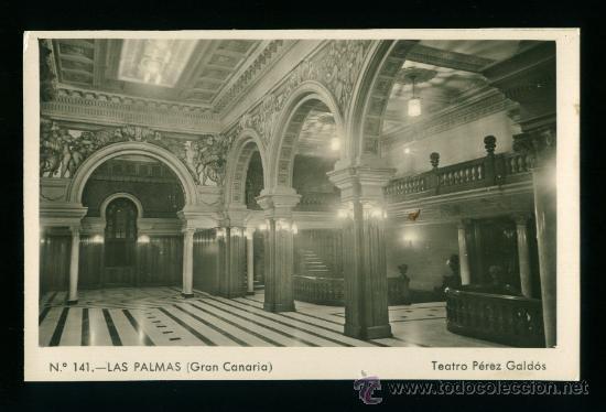 LAS PALMAS - GRAN CANARIA - TEATRO PÉREZ GALDÓS - EDICIÓN BARZAR ALEMÁN - AÑOS 50 (Postales - España - Canarias Moderna (desde 1940))