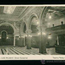 Postales: LAS PALMAS - GRAN CANARIA - TEATRO PÉREZ GALDÓS - EDICIÓN BARZAR ALEMÁN - AÑOS 50. Lote 18345841