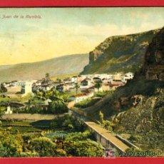 Postales: TENERIFE, S. JUAN DE LA RAMBLA, P37286. Lote 18704444