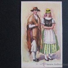 Postales: POSTAL DE TRAJES TIPICOS ESPAÑOLES DE LAS PALMAS,LAIETANA-TUSER.. Lote 24548655