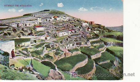 PUEBLO DE ATALAYA. COLECCIONISMO Y MAS POSTALES EN RASTRILLOPORTOBELLO (Postales - España - Canarias Antigua (hasta 1939))