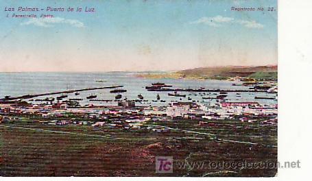 LAS PALMAS. PUERTO DE LA LUZ.COLECCIONISMO Y MAS POSTALES EN RASTRILLOPORTOBELLO (Postales - España - Canarias Antigua (hasta 1939))