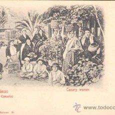 Postales: LAS PALMAS DE GRAN CANARIA.- MUJERES CANARIAS. Lote 19593389