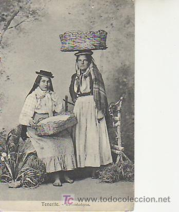 REVENDEDORAS.TENERIFE..COLECCIONISMO EN GENERAL EN RASTRILLOPORTOBELLO. (Postales - España - Canarias Antigua (hasta 1939))