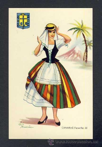 POSTAL DE CANARIAS: TENERIFE: MUJER (ED.JUAN MELERO) (Postales - España - Canarias Antigua (hasta 1939))