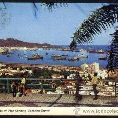 Postales: S-1960- LAS PALMAS DE GRAN CANARIA. VISTA PARCIAL Y PUERTO DE LA LUZ. Lote 20977093