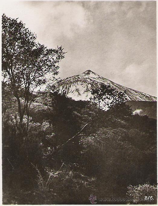 PIC TEIDE - 8/6 - FOTO-CENTRAL - STA. CRUZ DE TENERIFE - 9.1 X 7 CM. - (Postales - España - Canarias Antigua (hasta 1939))
