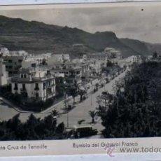 Postales: TENERIFE. SANTA CRUZ. Nº 86. RAMBLA DEL GENERAL FRANCO. ED. ARRIBAS. SIN CIRCULAR.. Lote 21396427