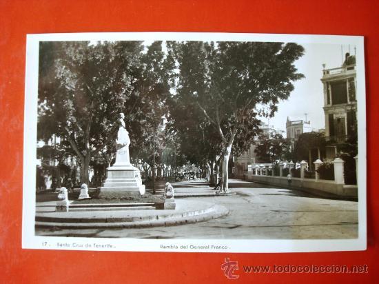 POSTAL ANTIGUA TENERIFE. RAMBLA DEL GENERAL FRANCO. (Postales - España - Canarias Antigua (hasta 1939))