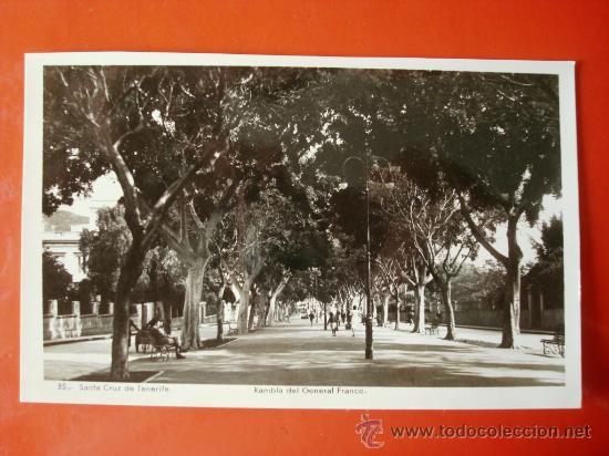 POSTAL ANTIGUA TENERIFE. RAMBLA DEL GENERAL FRANCO 1. (Postales - España - Canarias Antigua (hasta 1939))