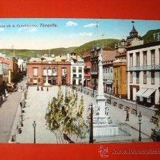 Postales: POSTAL ANTIGUA TENERIFE. PLAZA DE LA CONSTITUCIÓN. . Lote 24519693