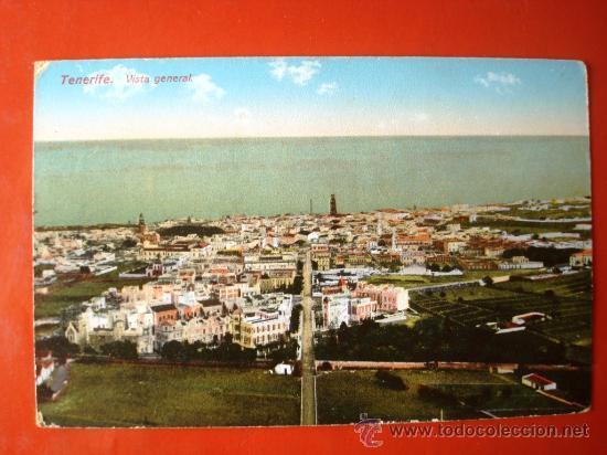 POSTAL ANTIGUA TENERIFE. VISTA GENERAL. (Postales - España - Canarias Antigua (hasta 1939))