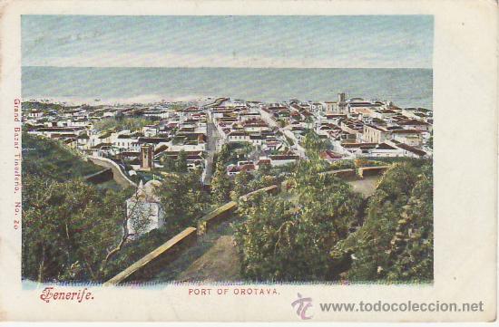 PORT OF OROTAVA NO DIVIDIDA.GRAND BAZAR TINERFEÑO Nº20-VEA MAS COLECCIONISMO EN RASTRILLO PORTOBELLO (Postales - España - Canarias Antigua (hasta 1939))