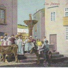 Postcards - LAS PALMAS.FUENTE ANTIGUA.MUY ANIMADA.VEA MAS COLECCIONISMO EN RASTRILLO PORTOBELLO - 26268716