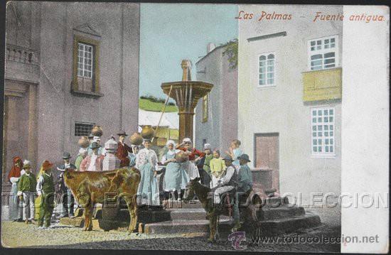 POSTAL CANARIAS LAS PALMAS FUENTE ANTIGUA . CA AÑO 1900. (Postales - España - Canarias Antigua (hasta 1939))