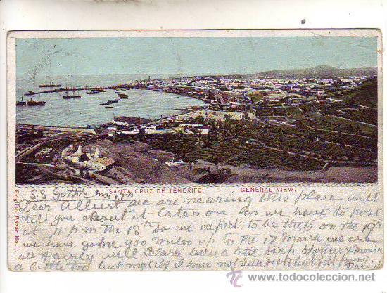 SANTA CRUZ DE TENERIFE - VISTA GENERAL. (Postales - España - Canarias Antigua (hasta 1939))