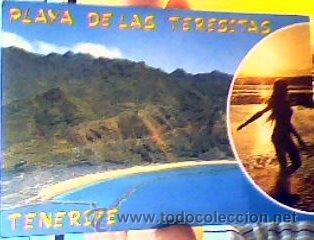 PLAYA DE LAS TERESITAS.VISTA AÉREA(TENERIFE).EUROAFRICANA DE CANARIAS.SIN CIRCULAR. (Postales - España - Canarias Moderna (desde 1940))