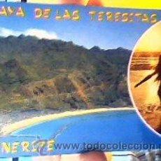 Postales: PLAYA DE LAS TERESITAS.VISTA AÉREA(TENERIFE).EUROAFRICANA DE CANARIAS.SIN CIRCULAR.. Lote 42830386