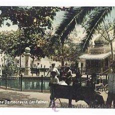 Postales: LAS PALMAS ( GRAN CANARIA ). PLAZA DEMOCRACIA. ED. RODRIGUES BROS. SIN CIRCULAR. Lote 24314391