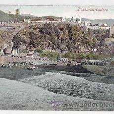 Cartes Postales: CANARIAS. LA PALMA. DESEMBARCADERO. REVERSO SIN DIVIDIR. CIRCULADA. Lote 24596946
