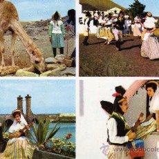 Postales: LANZAROTE CANARIAS DANZA ANCESTRAL FOTO GABRIEL AÑO 1969 NUEVA. Lote 24665921