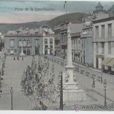 Postales: SANTA CRUZ DE TENERIFE. ISLAS CANARIAS. PLAZA DE LA CONSTITUCIÓN. AÑO 1910.. Lote 27600147