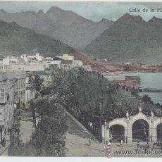 Postales: SANTA CRUZ DE TENERIFE. ISLAS CANARIAS. CALLE DE LA MARINA. AÑO 1910.. Lote 27600148