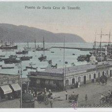 Postales: SANTA CRUZ DE TENERIFE. ISLAS CANARIAS. PUERTO. AÑO 1910.. Lote 27600149